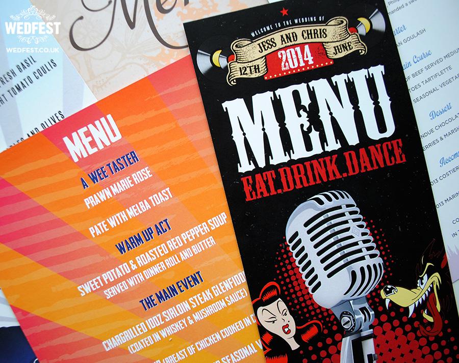 festival wedding menus