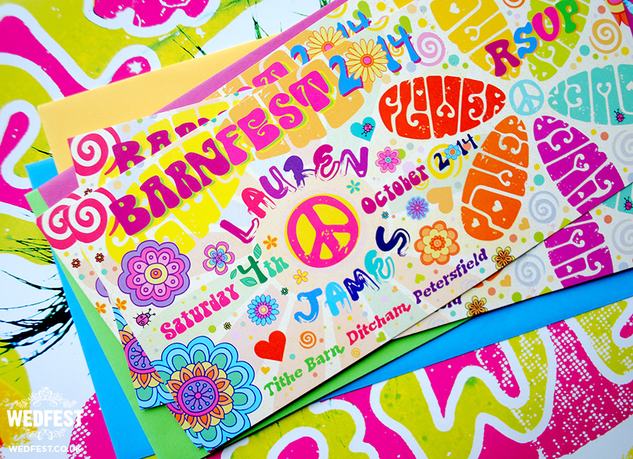 Flower Power Wedding Invitations | WEDFEST