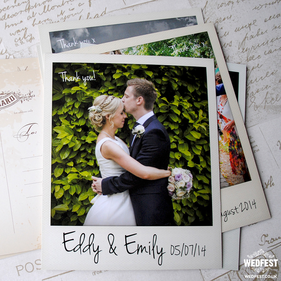 polaroid photo wedding postcards