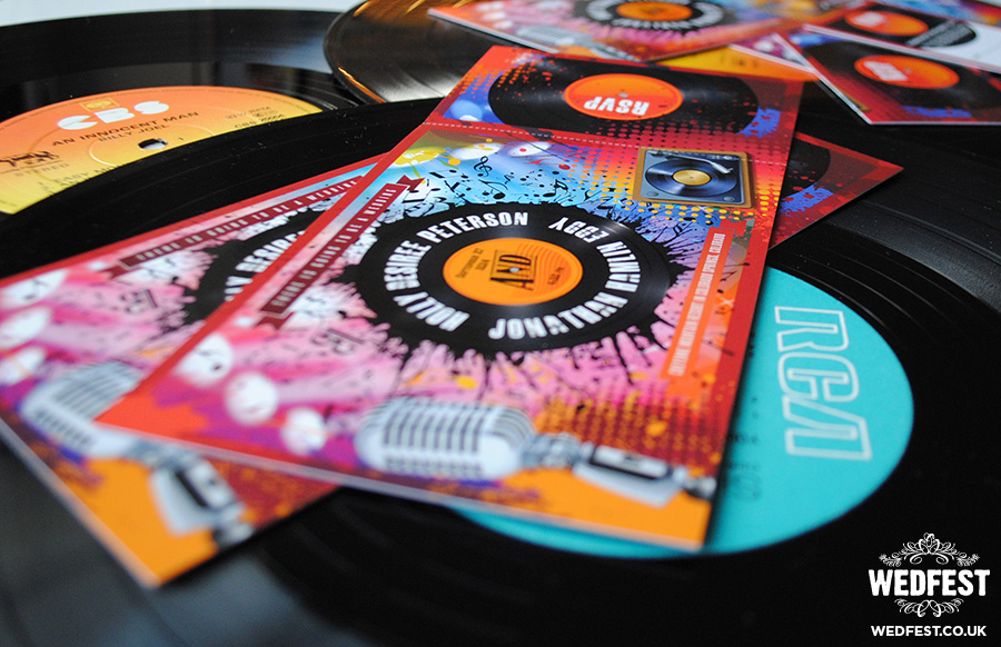 vinyl record wedding invites