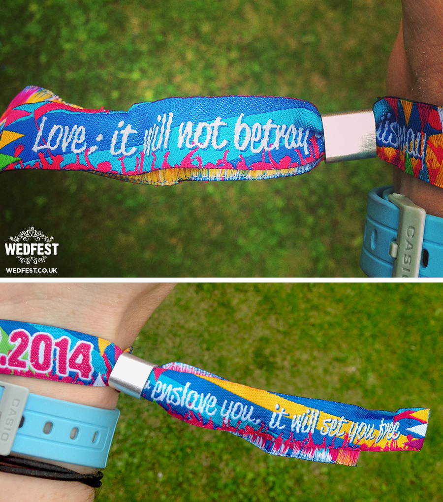woven fabric event wristbands