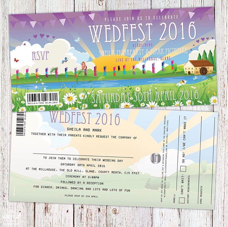 Irish festivalwedding weddinginvitation from wedfest rockmywedding instawedding weddingblog irishwedding irishbridehellip