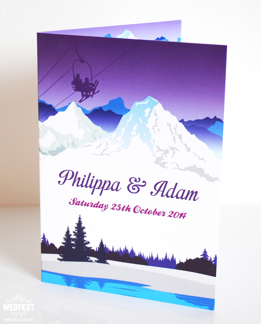 Ski Theme Wedding Invitations