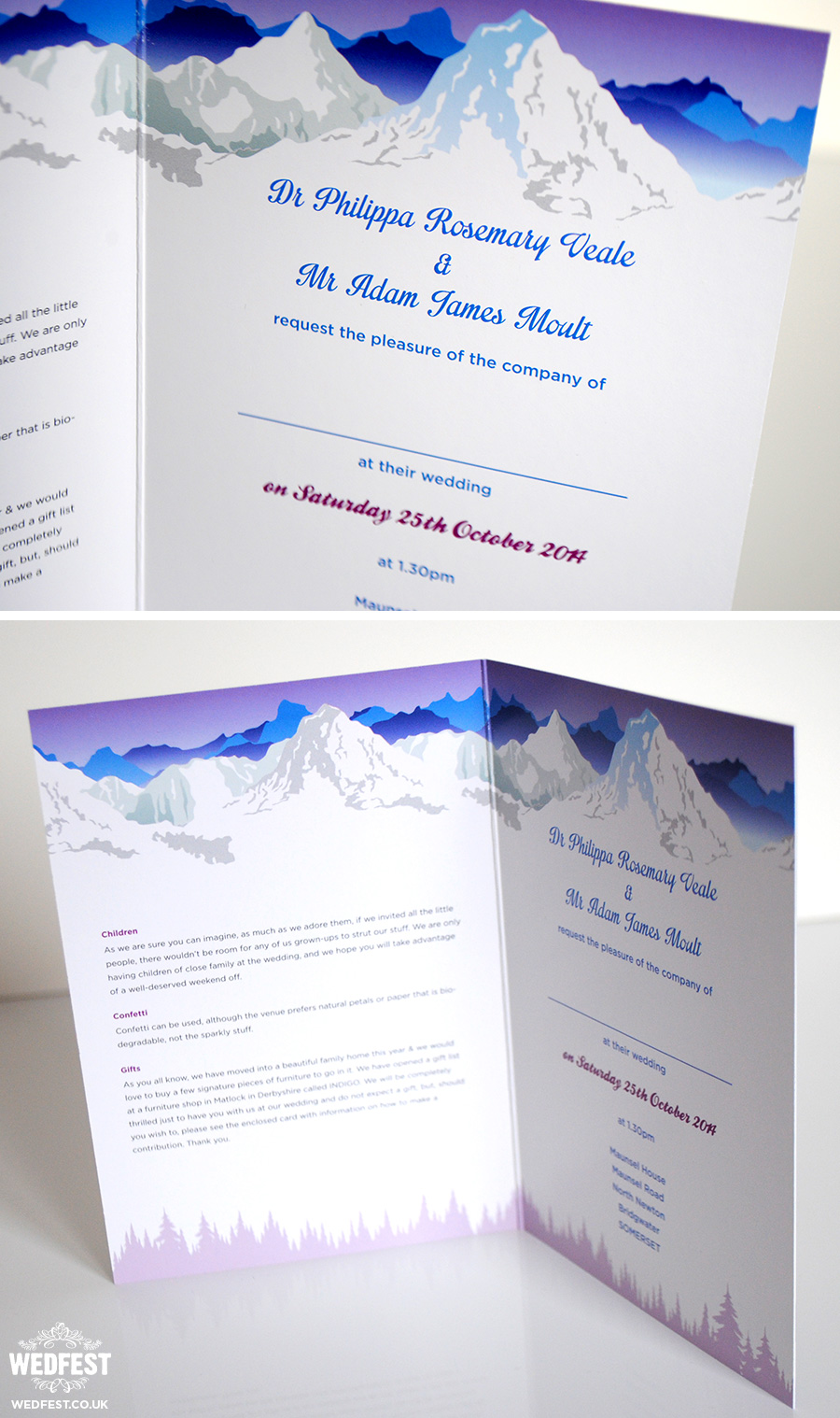 Ski Themed Wedding Invites