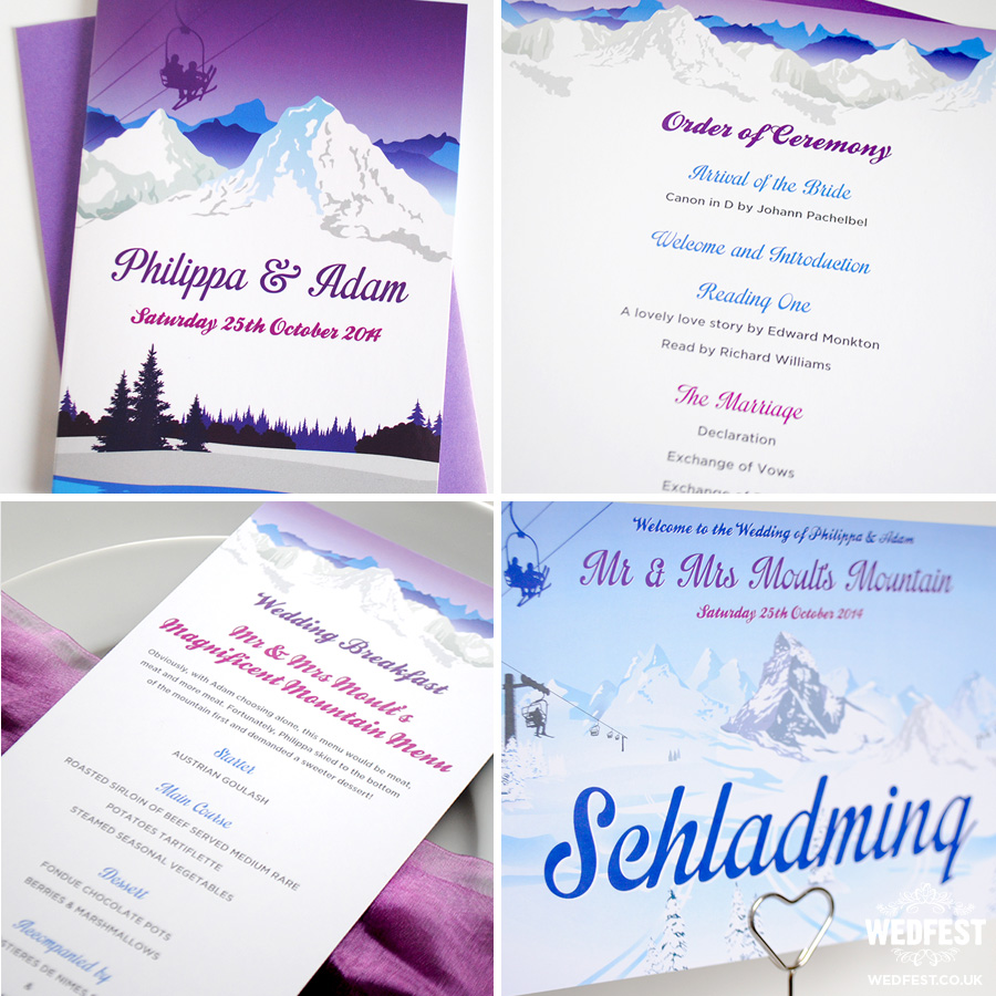 Ski Themed Wedding