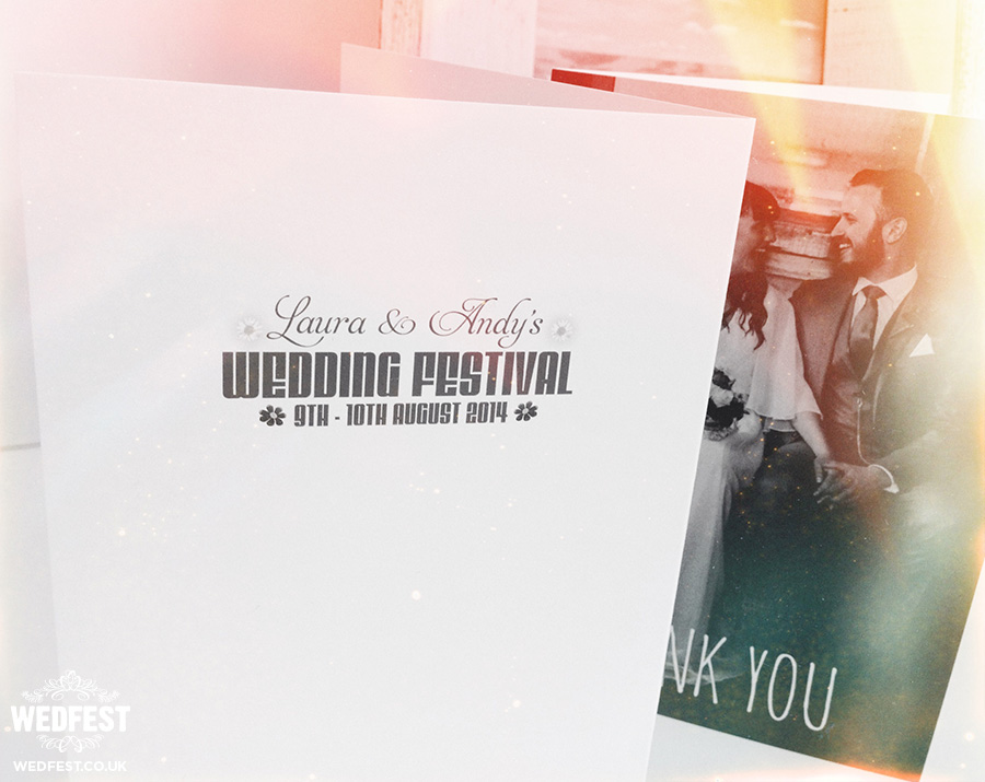 Festival Wedding Thank You Cards