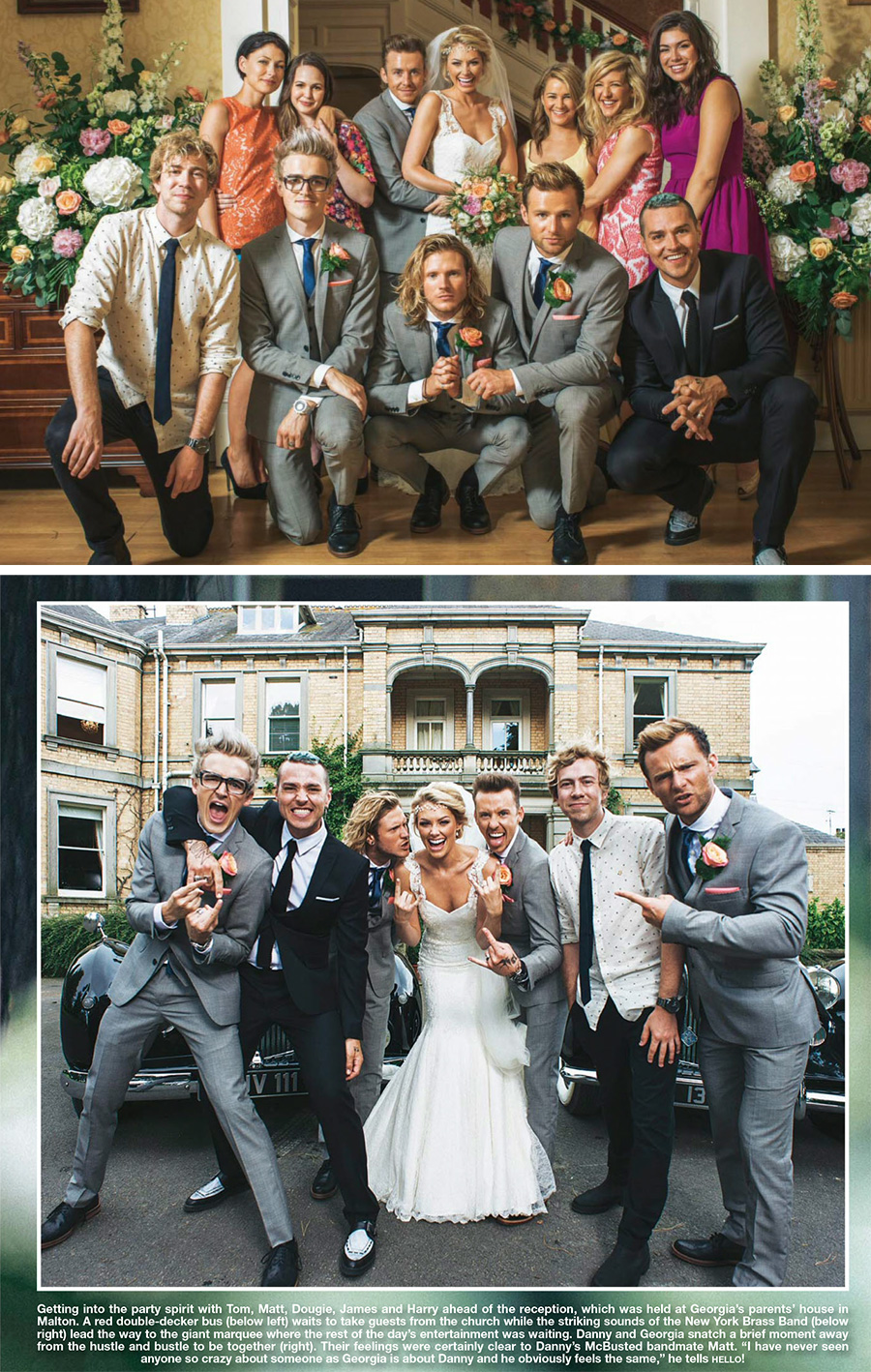celebrity wedding mcbusted hello magazine