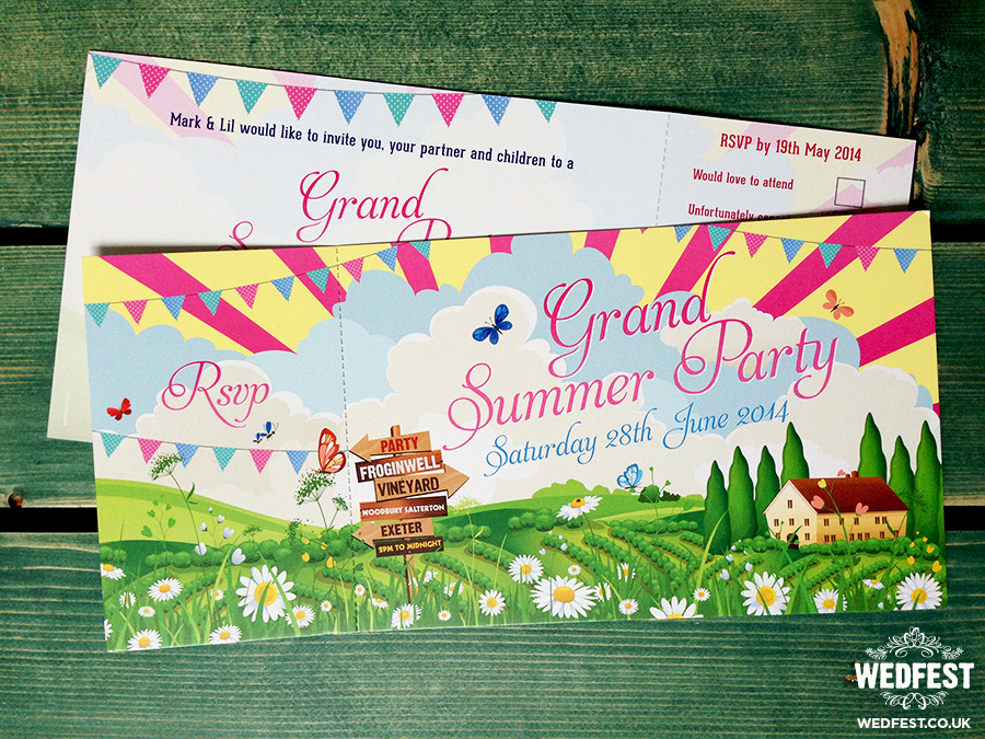 corporate event summer party invitations