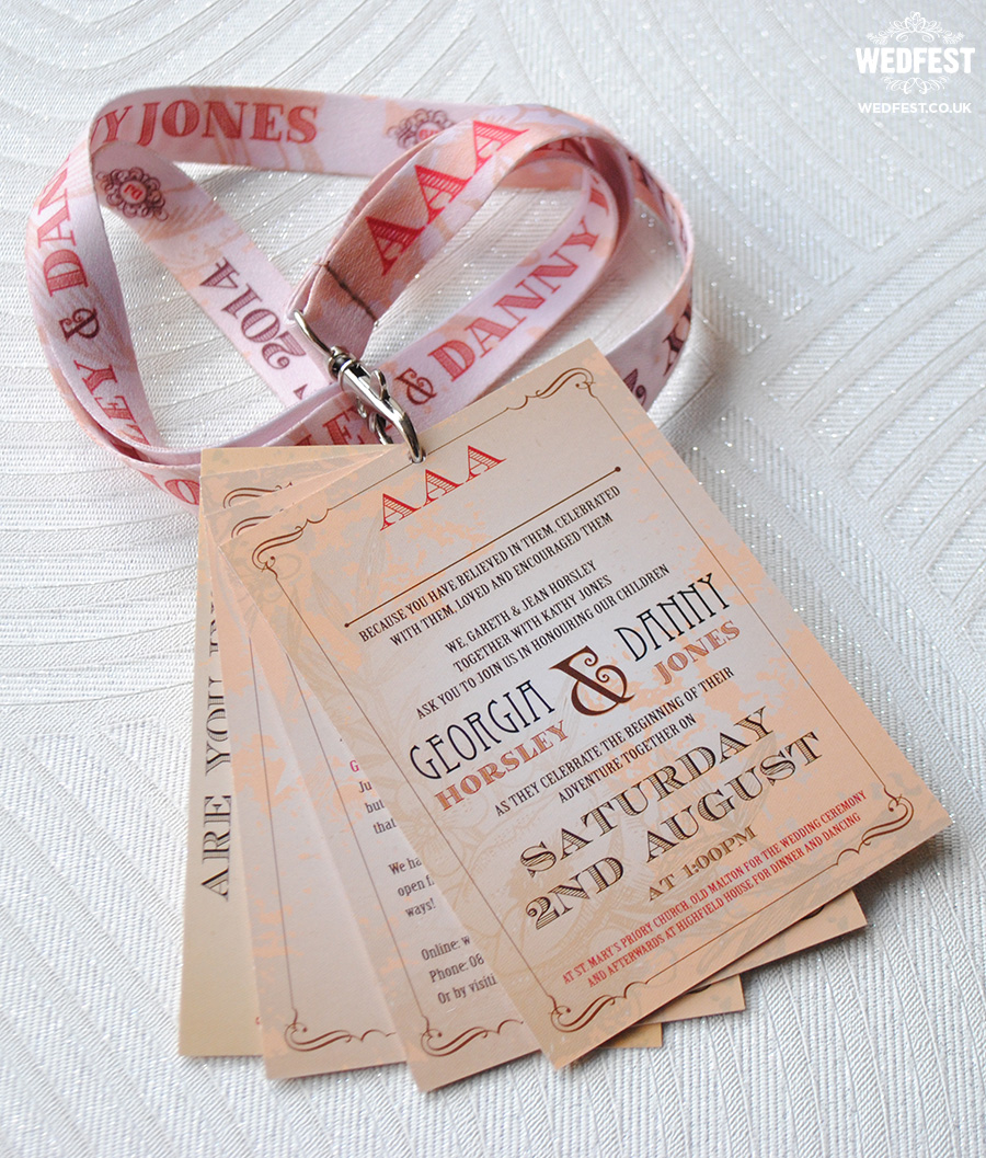 Danny Jones And Georgia Horsley Wedding Stationery Wedfest