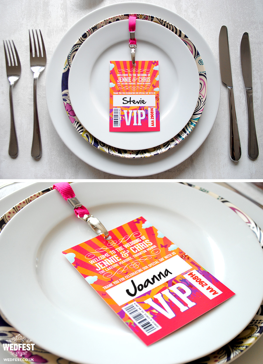 vip lanyard wedding place name cards