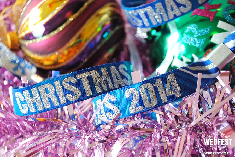 christmas themed woven fabric wristbands