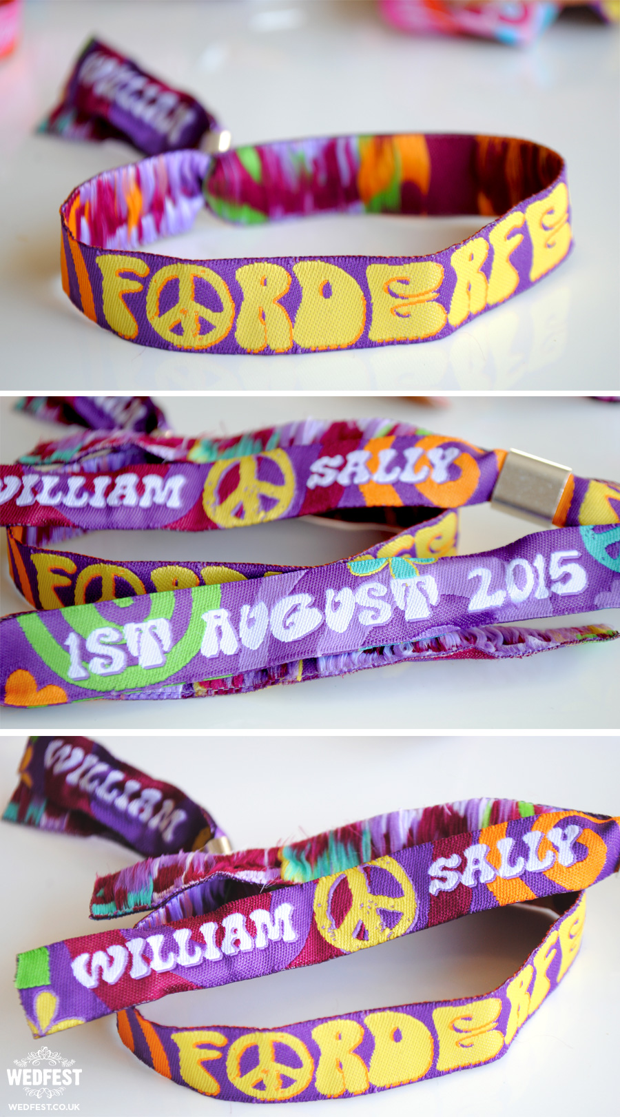Festival Wedding Wristbands