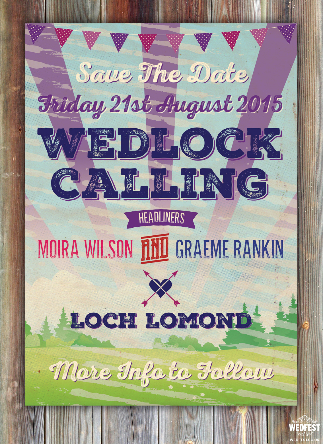 Loch Lomond Scotland Wedding save the date