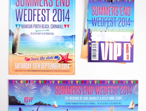Summers End Wedfest – Beach / Seaside Themed Wedding Stationery