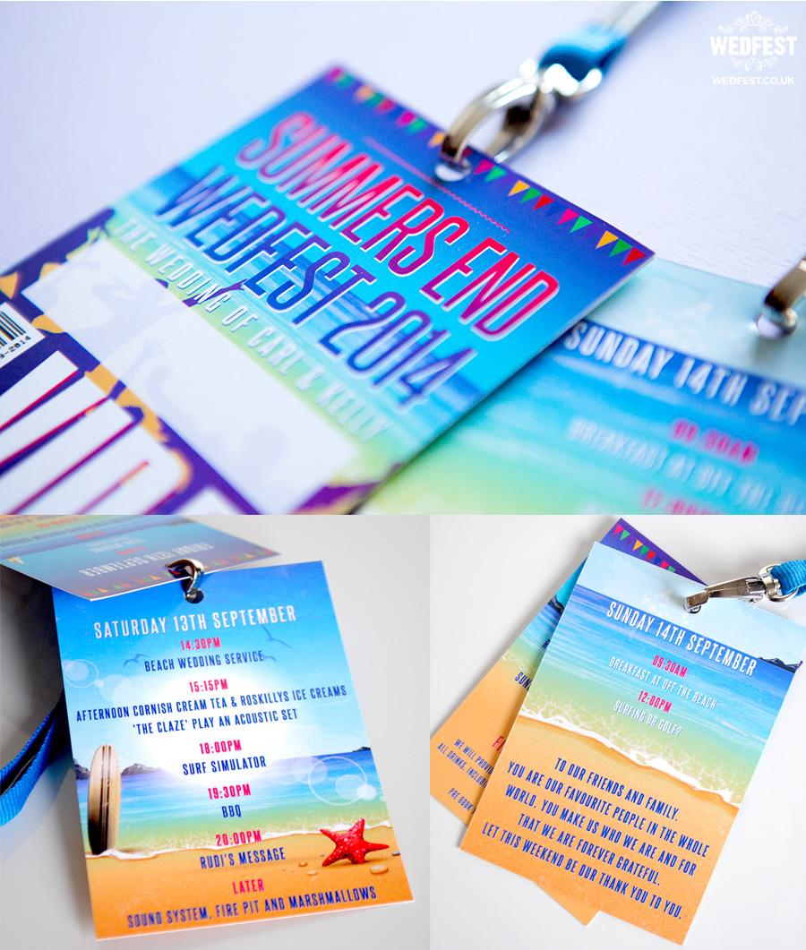 beach wedding vip lanyard programmes