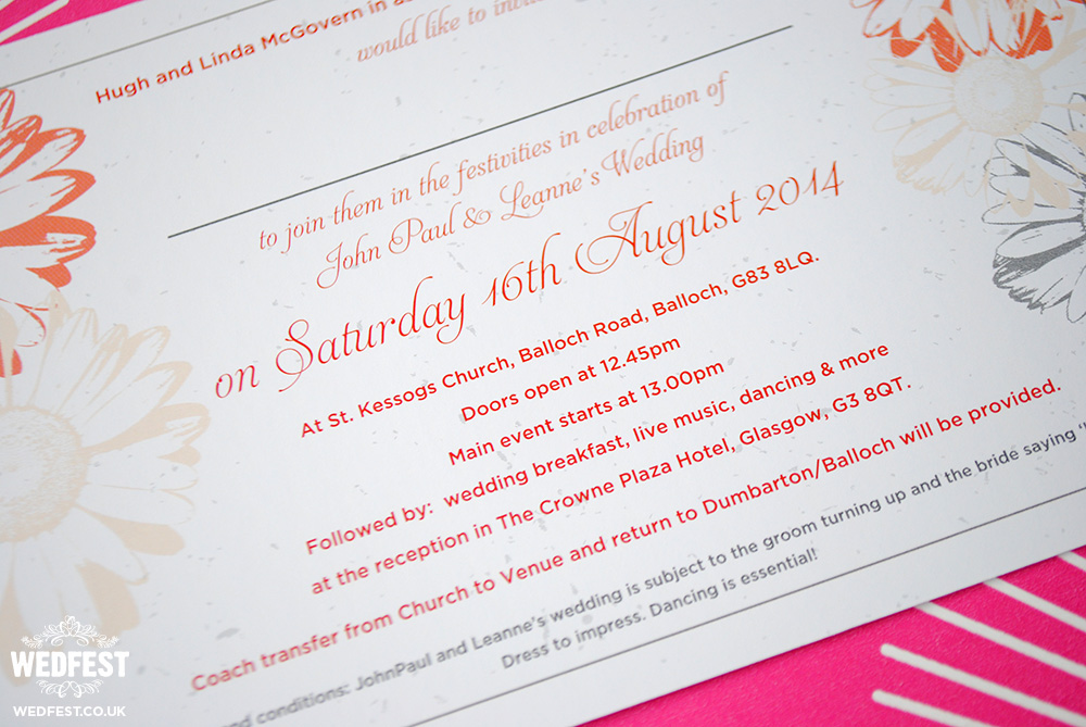 flower themed wedding invites