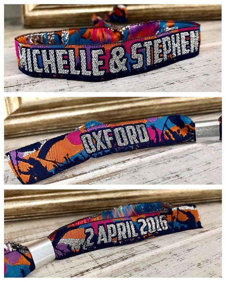 Michelle amp Stevens personalised festivalwedding wristband wedfest wristbands weddingwristbands festivalbridehellip