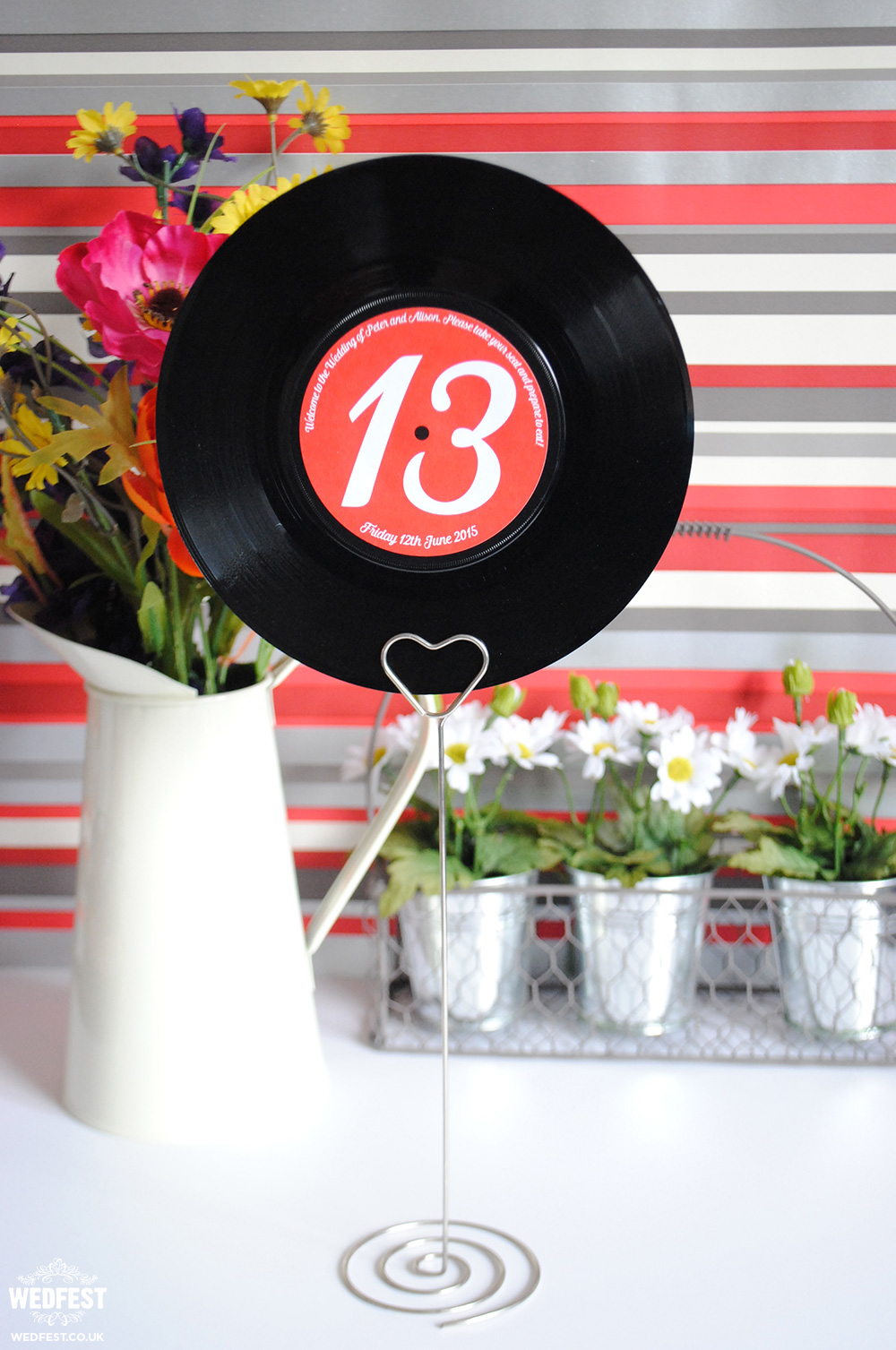 7 vinyl record wedding table names numbers wedfest for Vinyl record decoration ideas