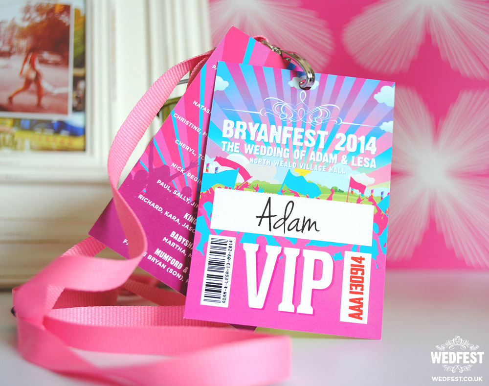 festival wedding vip pass lanyard