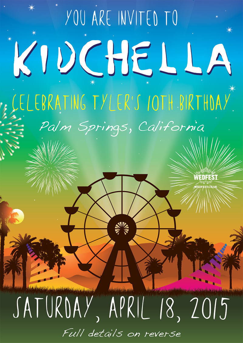 Kidchella Birthday Party Invites