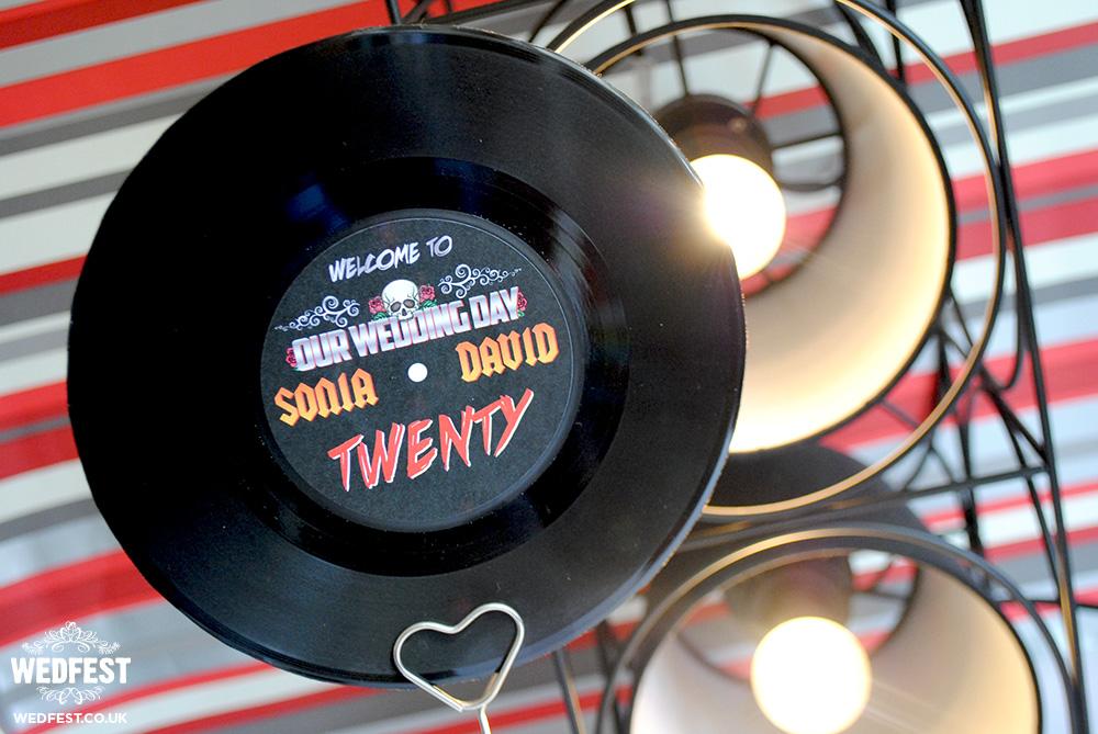 rock n roll wedding table numbers