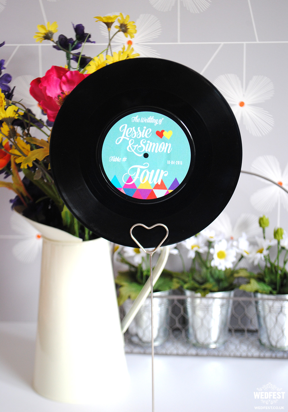 vinyl record wedding stationery