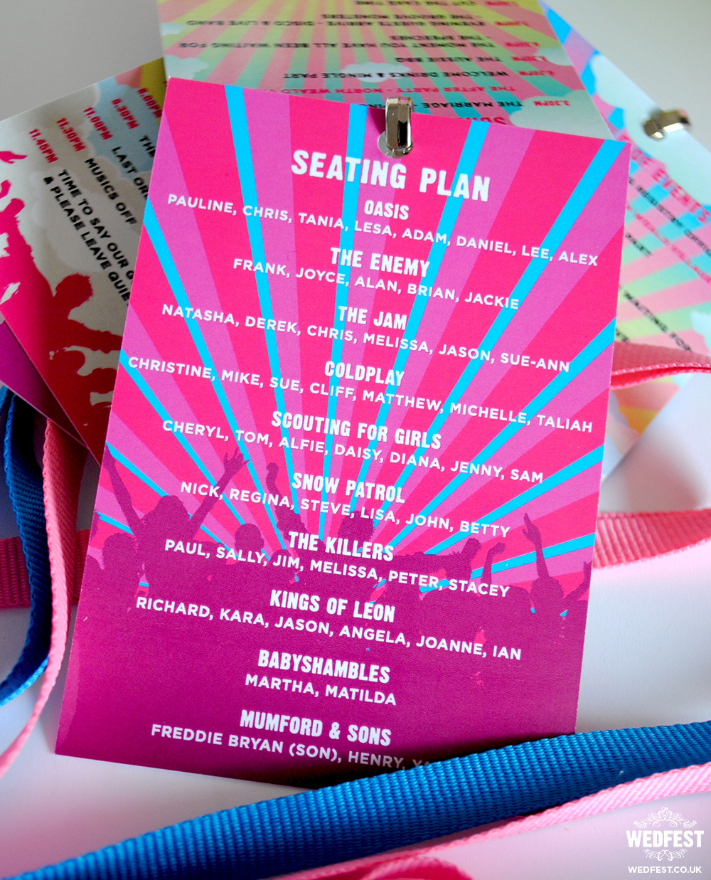 wedding festival seating plan-lanyard