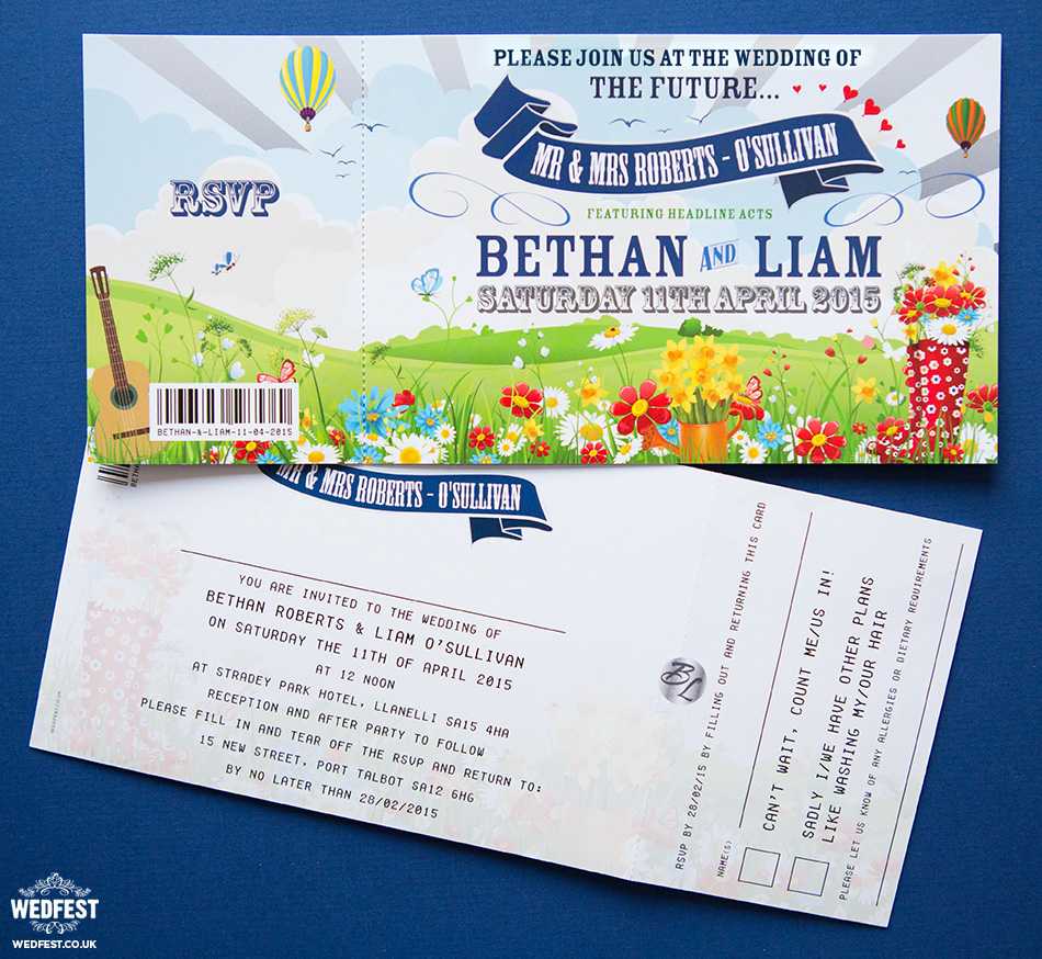 spring festival wedding invites