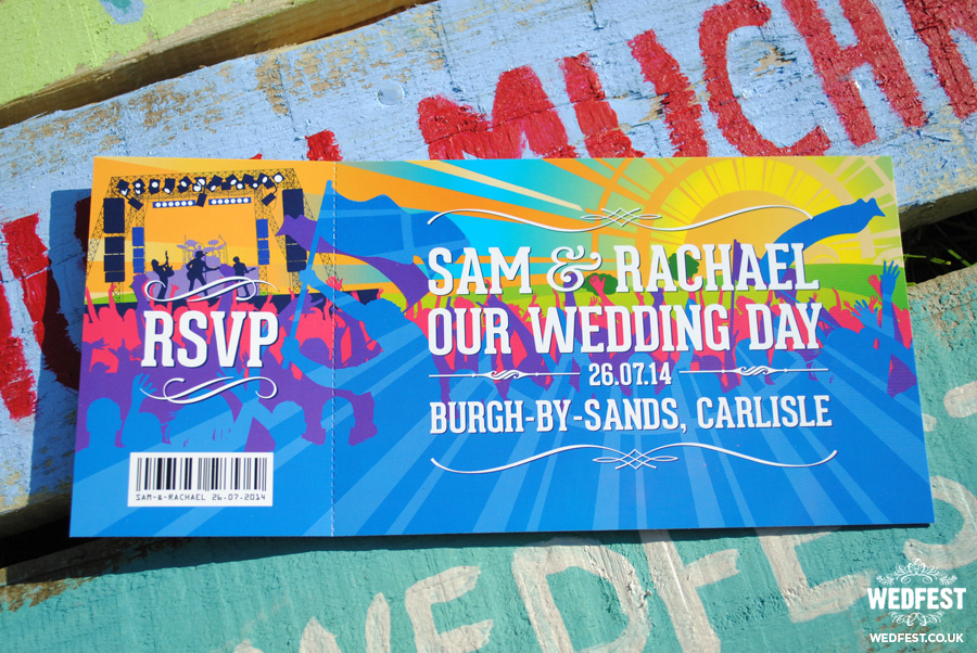 festival style wedding invitations wedfest