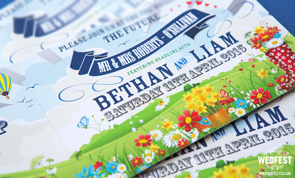 spring boho wedding invitations