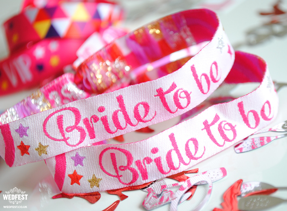 bride to be hen party wristband