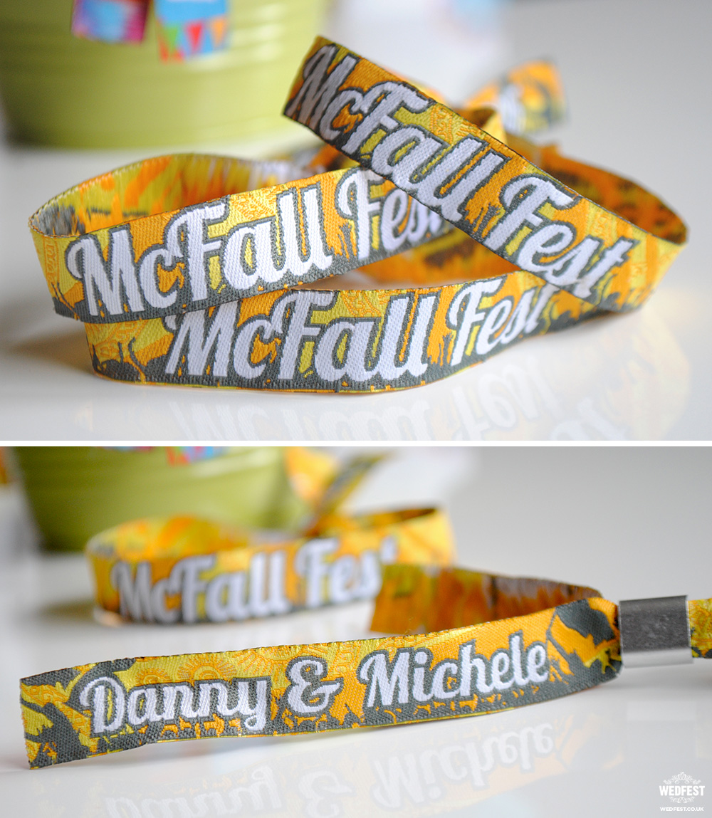 custom wedding wristbands