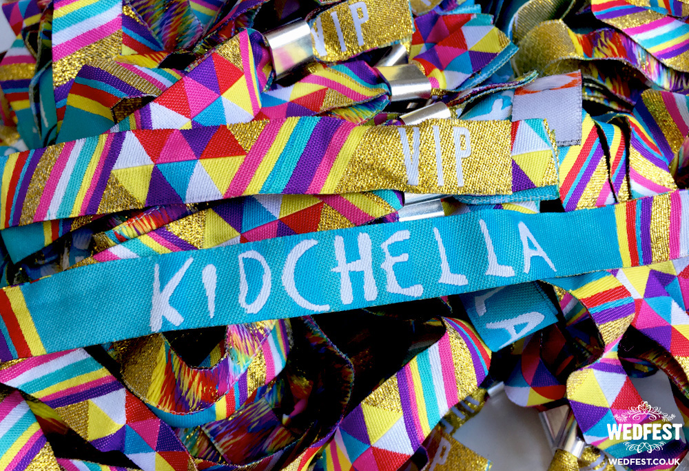 kidchella birthday party wristbands