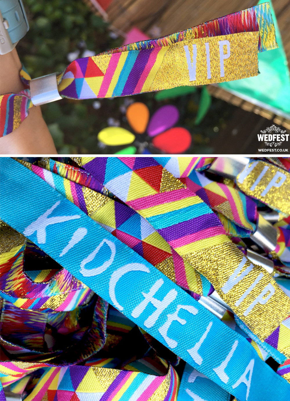 kidchella party wristbands