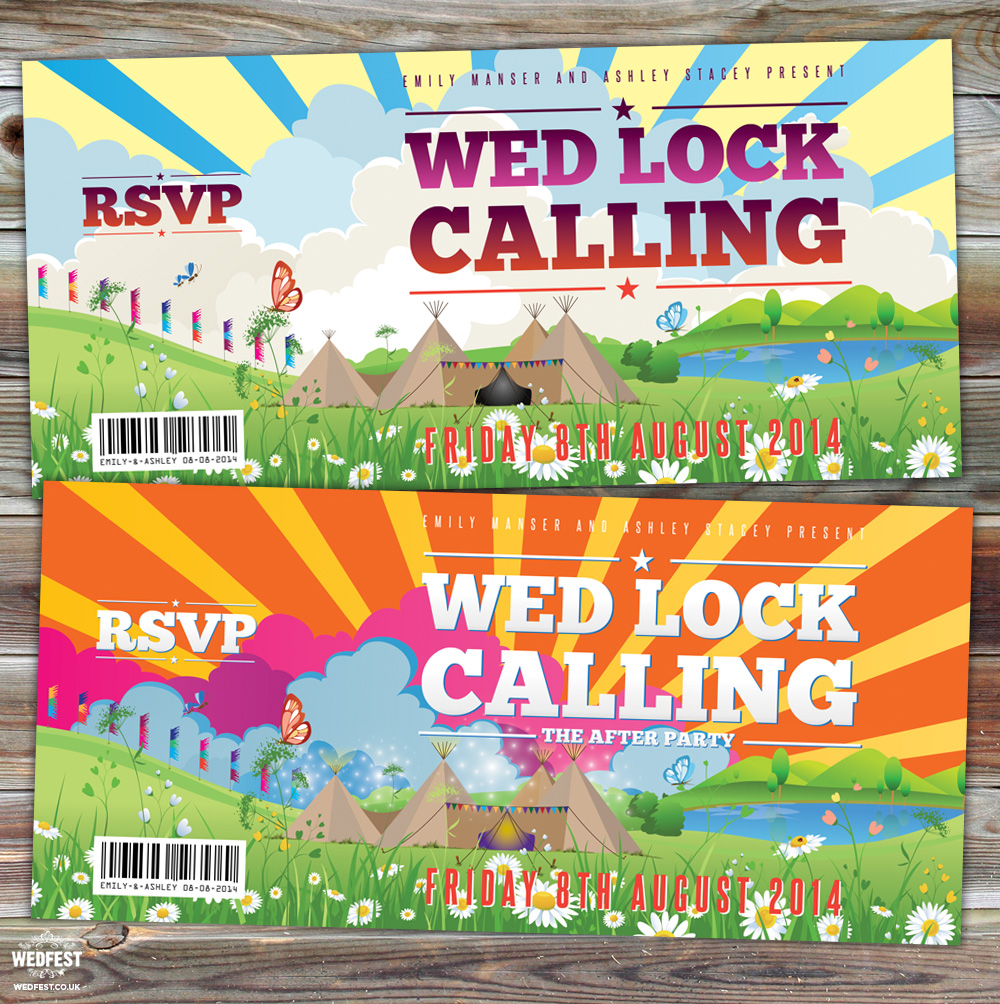 wedlock calling festival wedding invites