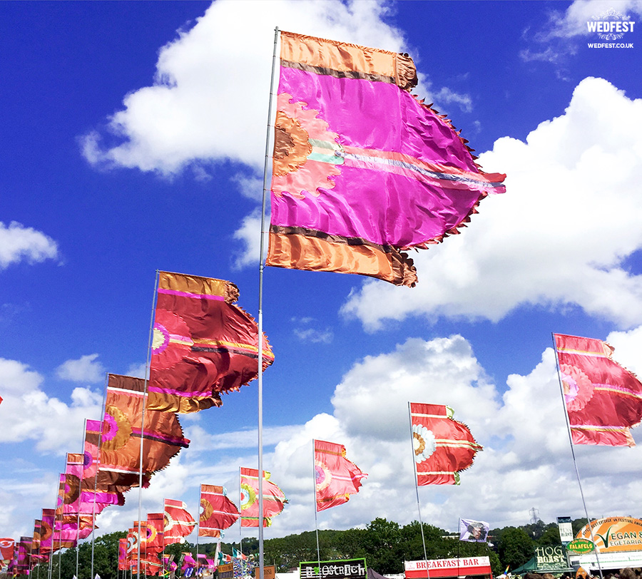 glastonbury festival flags wedfest