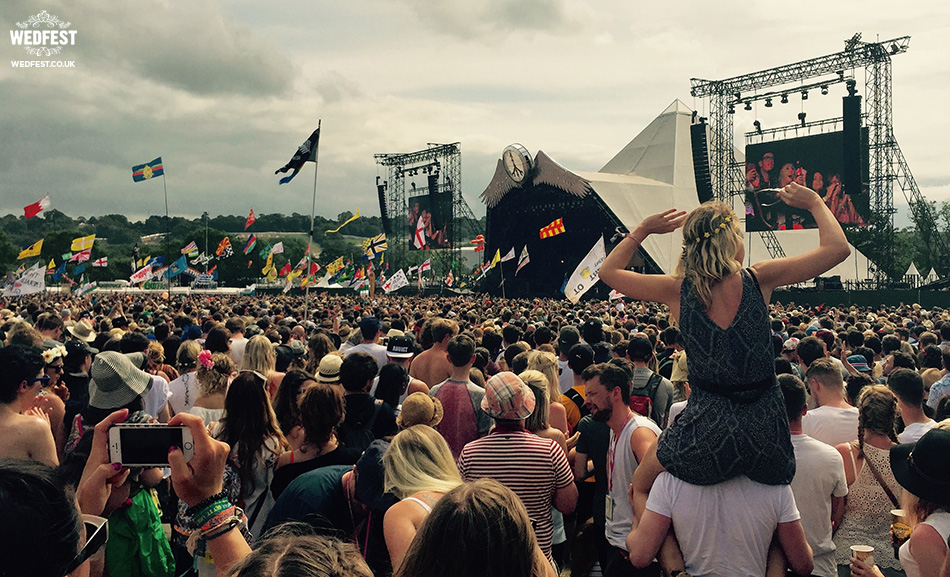 Glastonbury Pyramid Stage | Wedfest Festival Wedding