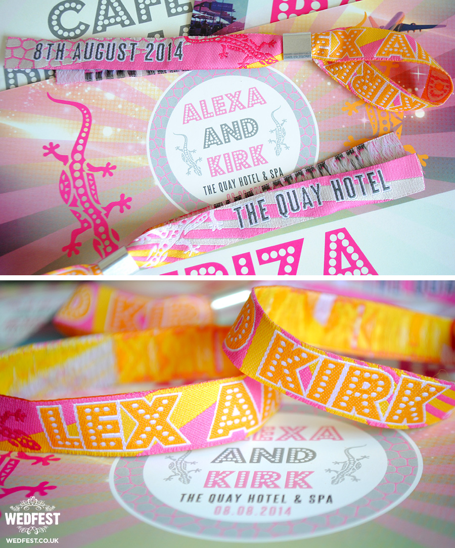 ibiza wedding wristband wedding favours