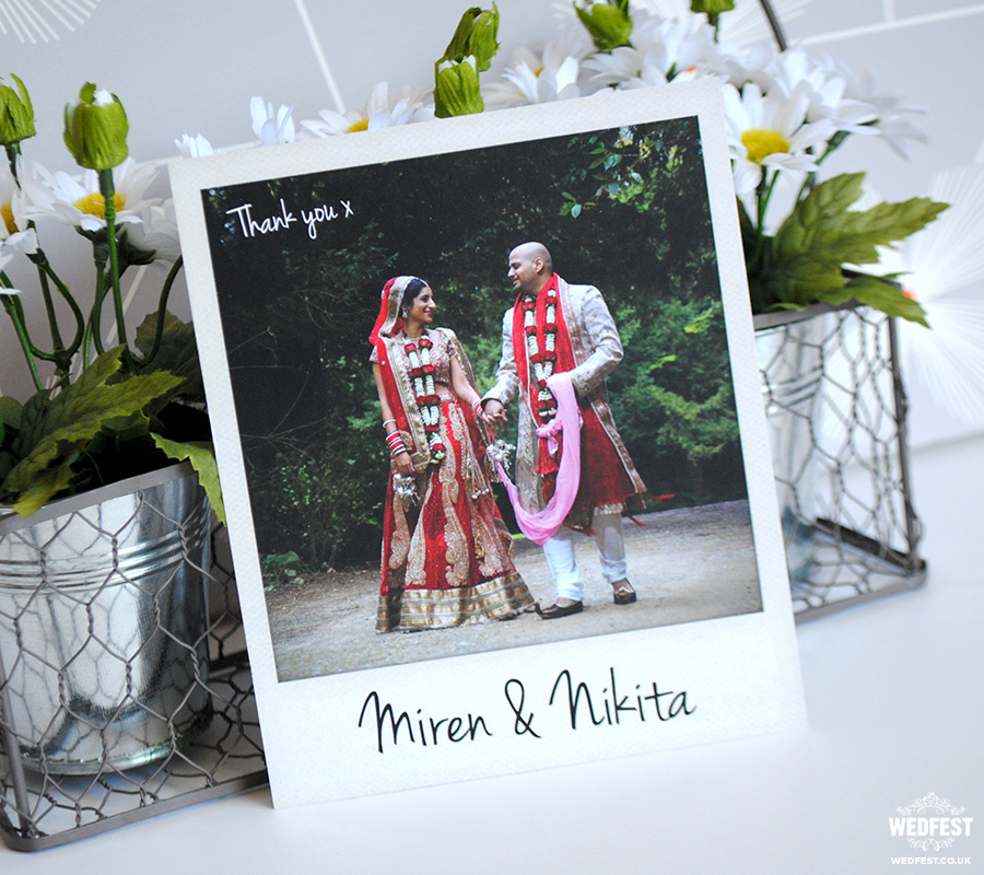 indian wedding thank you card