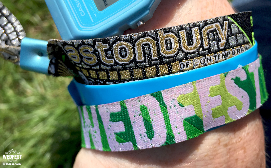 wedfest glastonbury wristband