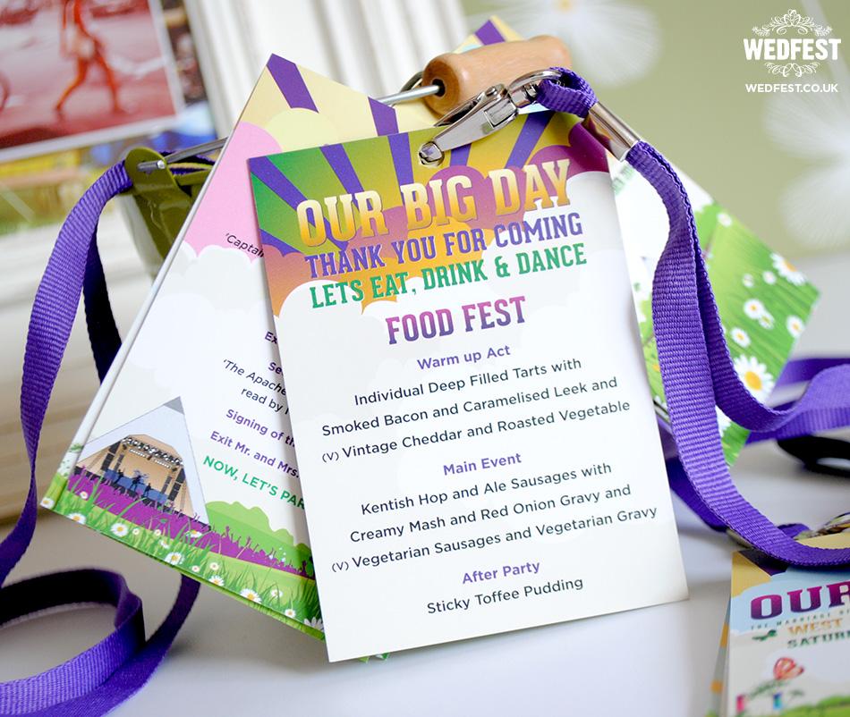 festival themed wedding stationery