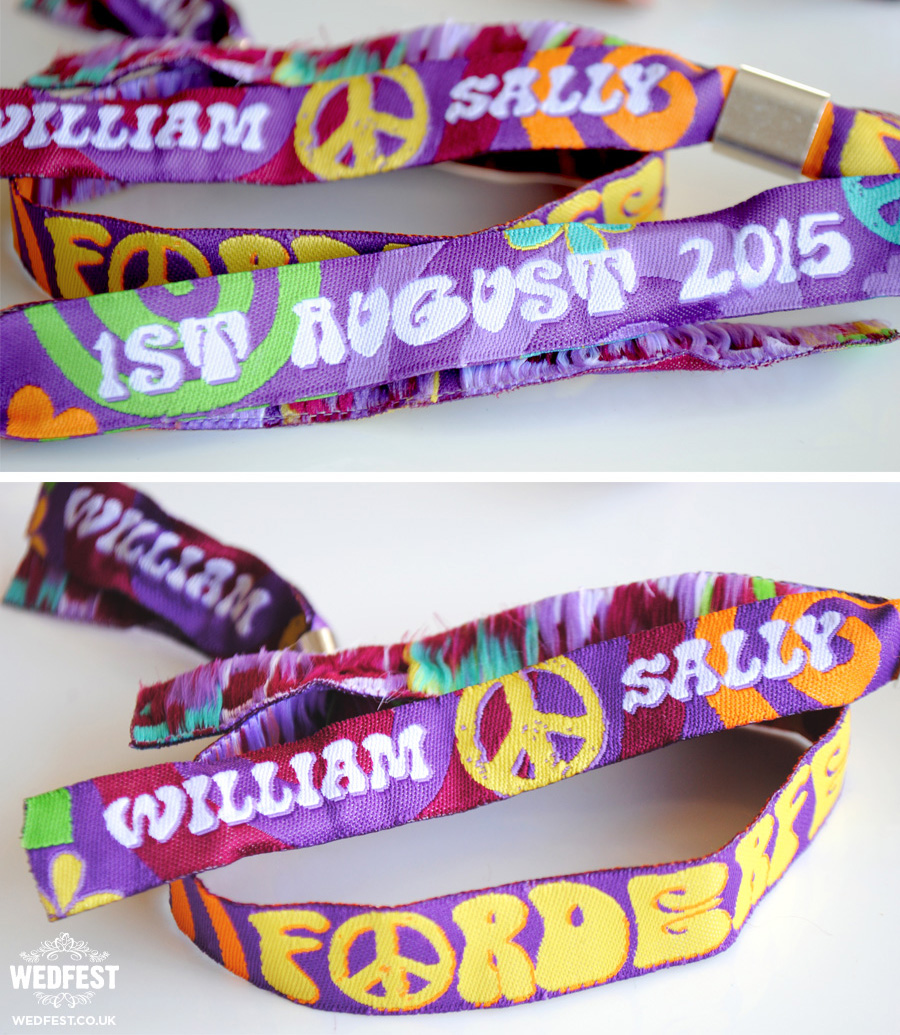festival wedding wristband wedding favour