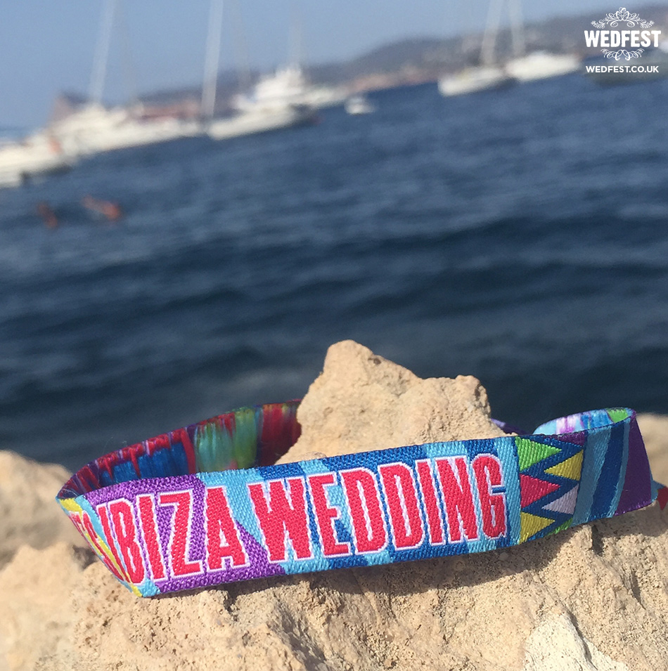 Ibiza wedding wristband