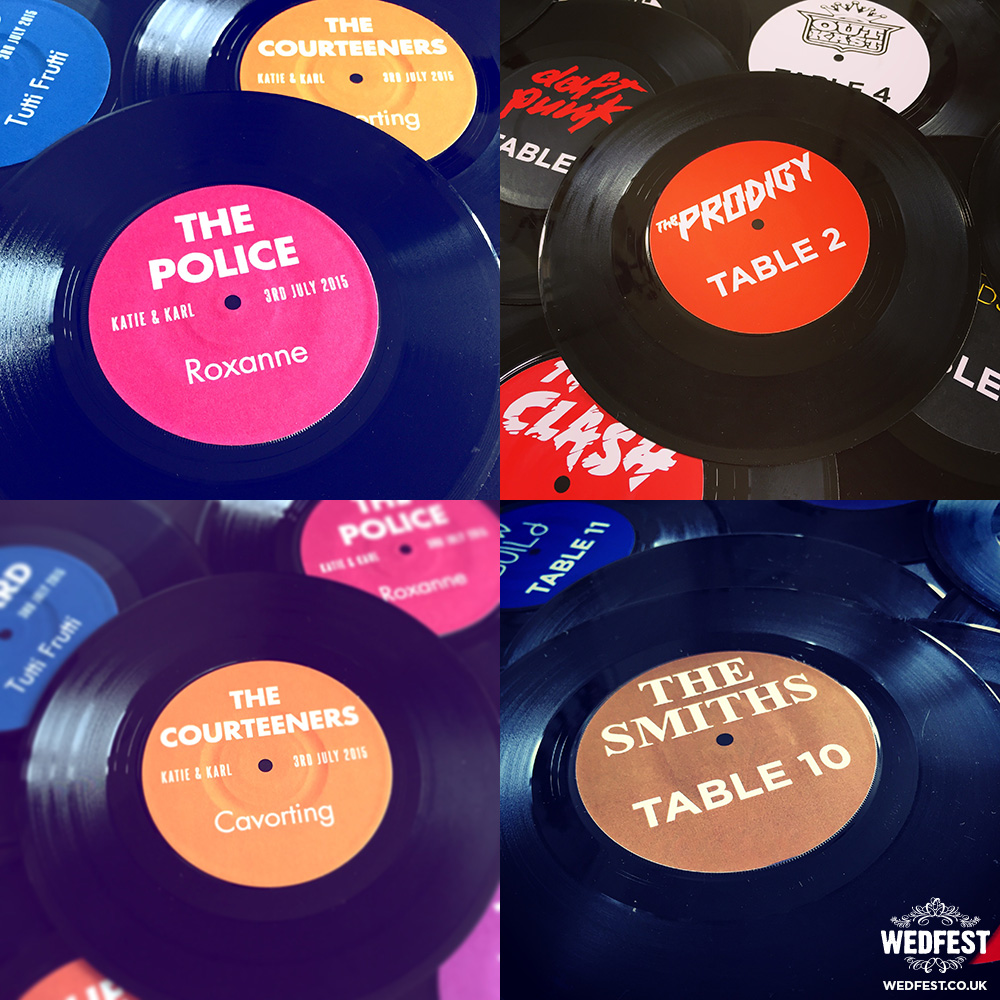 vinyl record music themed wedding