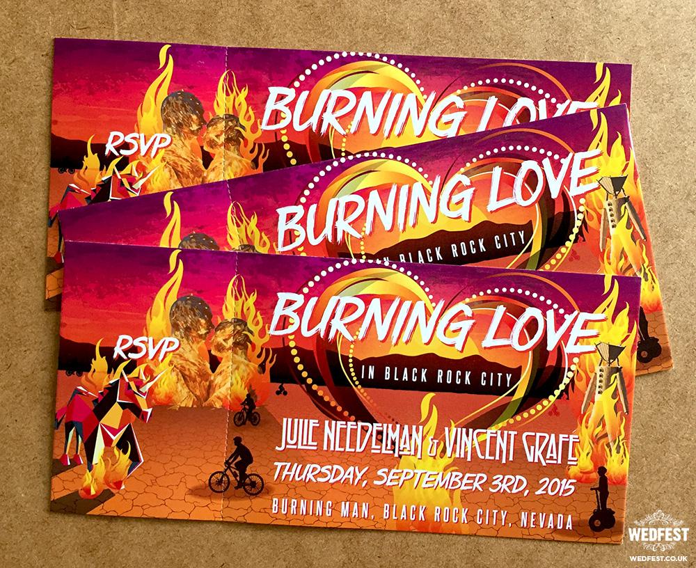burning man wedding invitations
