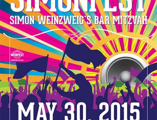 Festival Themed Bar Mitzvah Invites