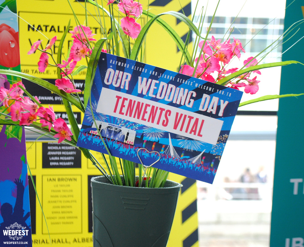 festival wedding table name card tennents vital