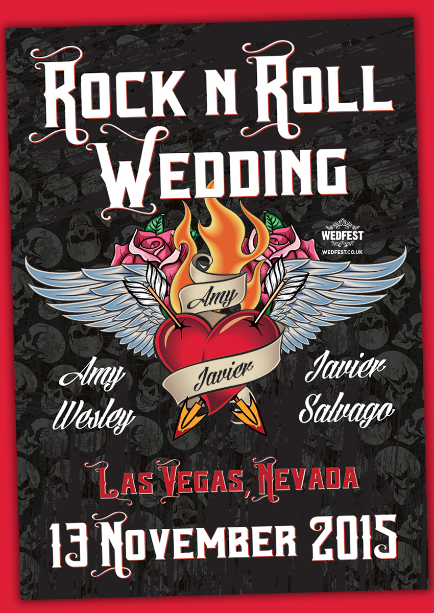 Las Vegas Rock \'n\' Roll Wedding Invites | WEDFEST