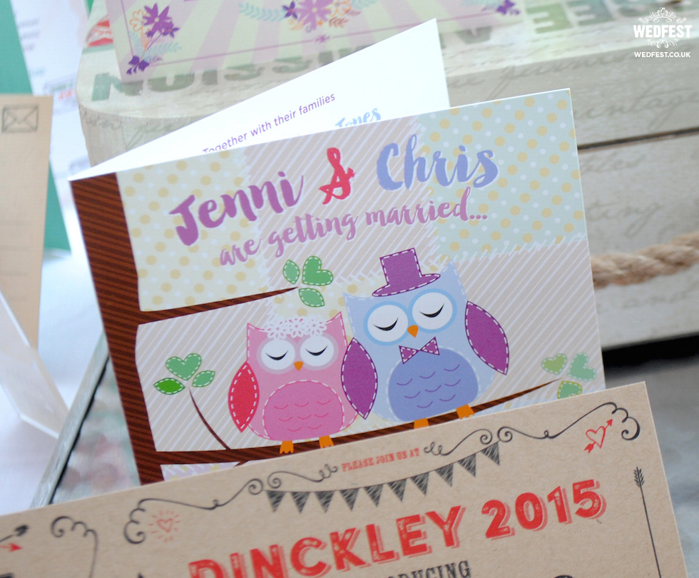 owls wedding invites
