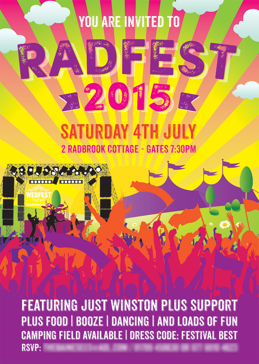 Radfest Festival Birthday Party Invites